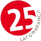 25 lat gwarancji